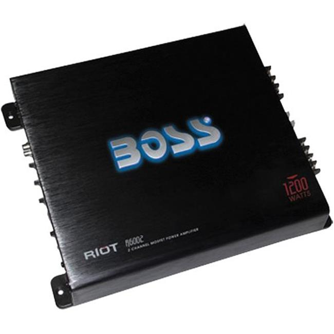 BOSS AUDIO SYSTEMS R6002 1200 Watt Riot 2 Channel Mosfet Power Amplifier