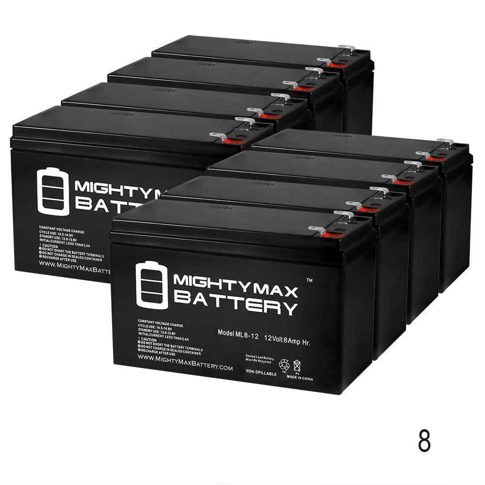 12V 8Ah Razor Pocket Mod Betty 15130661 Scooter Battery - 8 Pack