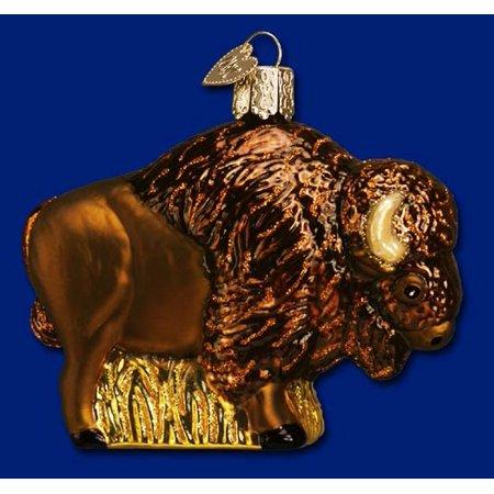 Old World Christmas Buffalo Glass Blown Ornament Blown Glass Lighted Christmas Ornament