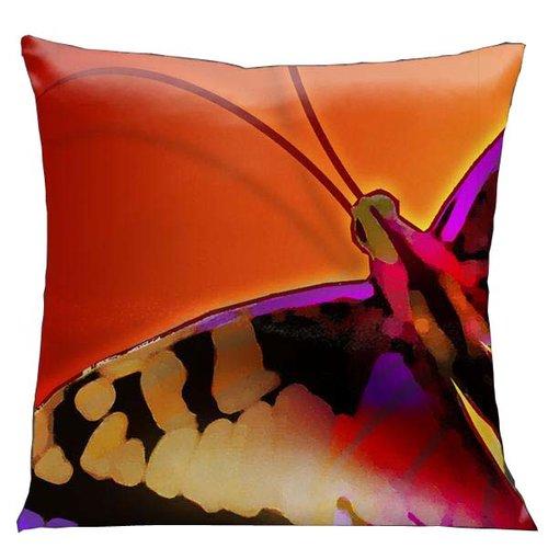 Lama Kasso Glow Butterfly Throw Pillow