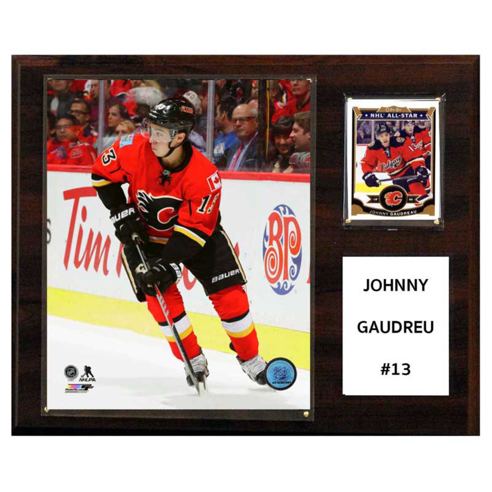 C&I Collectables NHL 12x15 Johnny Gaudreau Calgary Flames Player Plaque