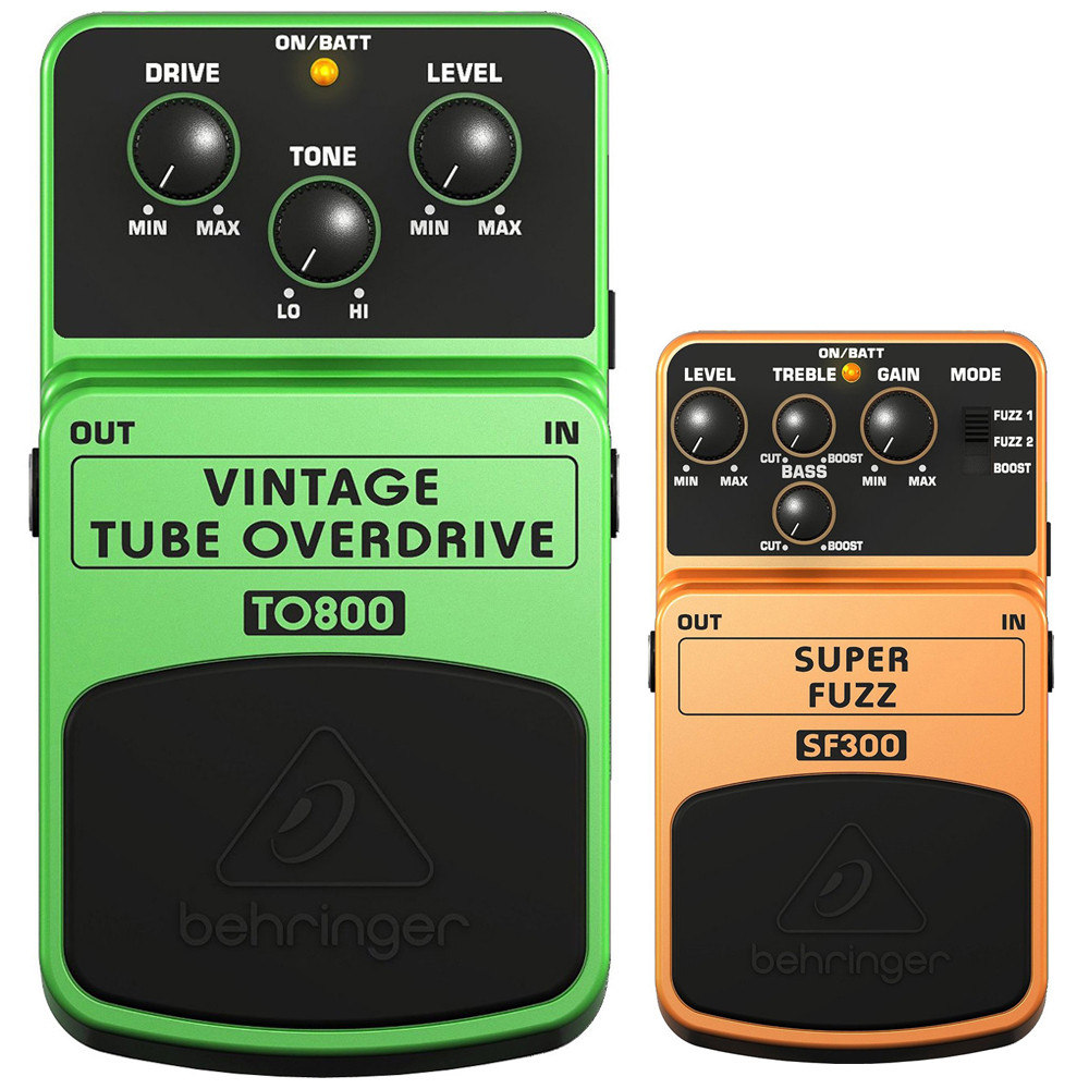 Behringer Vintage Tube Overdrive Tube-Sound Effects Pedal (TO800) with SUPER FUZZ 3-Mode... by Behringer