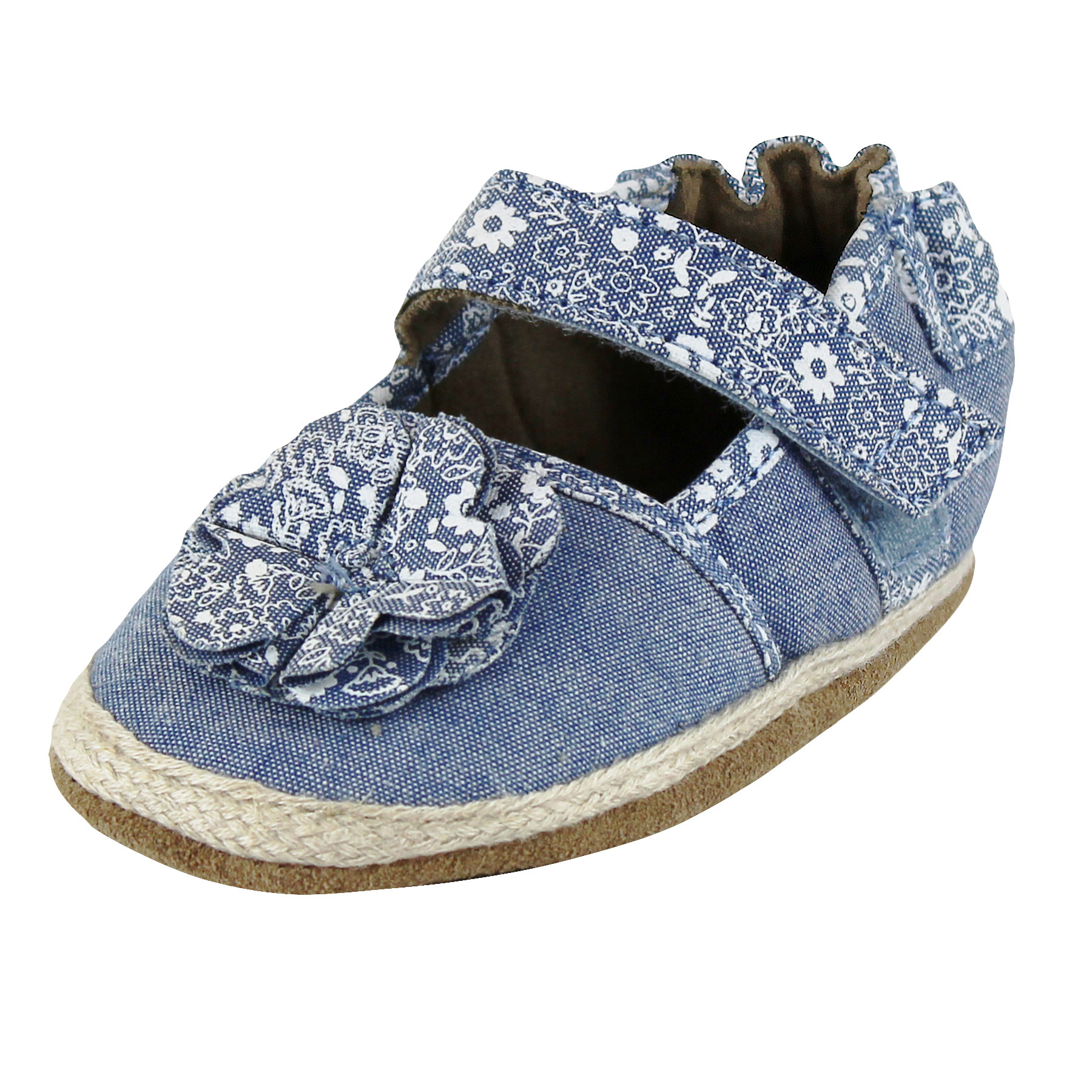 Robeez Baby Girls Espadrille Sandals 18 24 Months Crib Shoes Infant