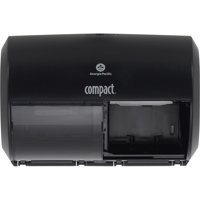 Compact, GPC56784A, 2-Roll Side-by-Side Coreless High-Capacity Toilet Paper Dispenser, 1 Each, Black
