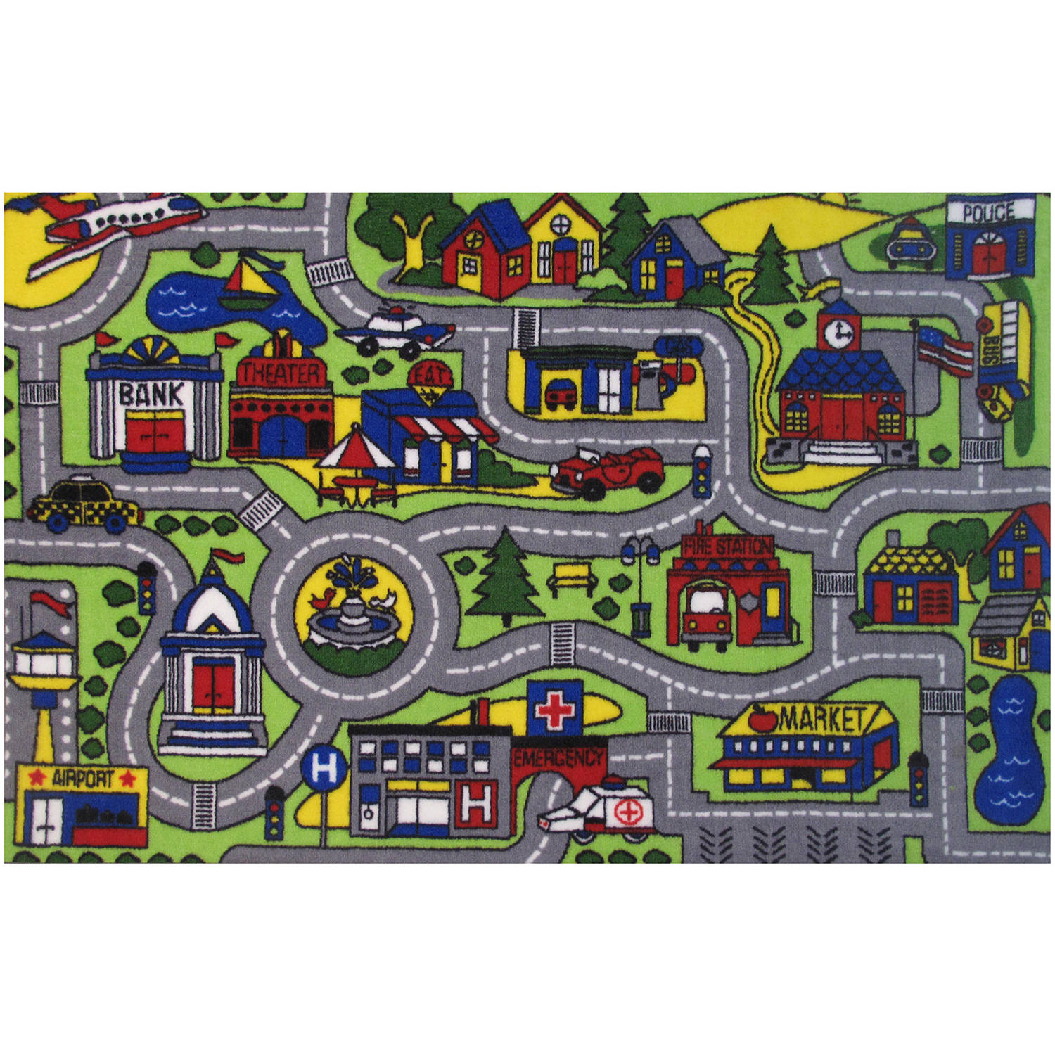 Fun Rugs Driving Time Kids Rugs