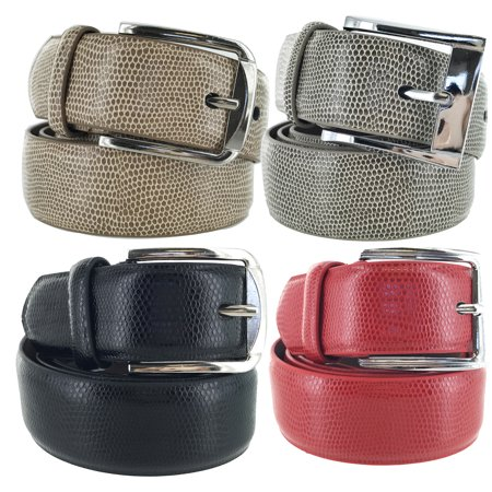 Faddism Mens Square Buckle Expedition Leather Belt (Leather Square Buckle Belt)
