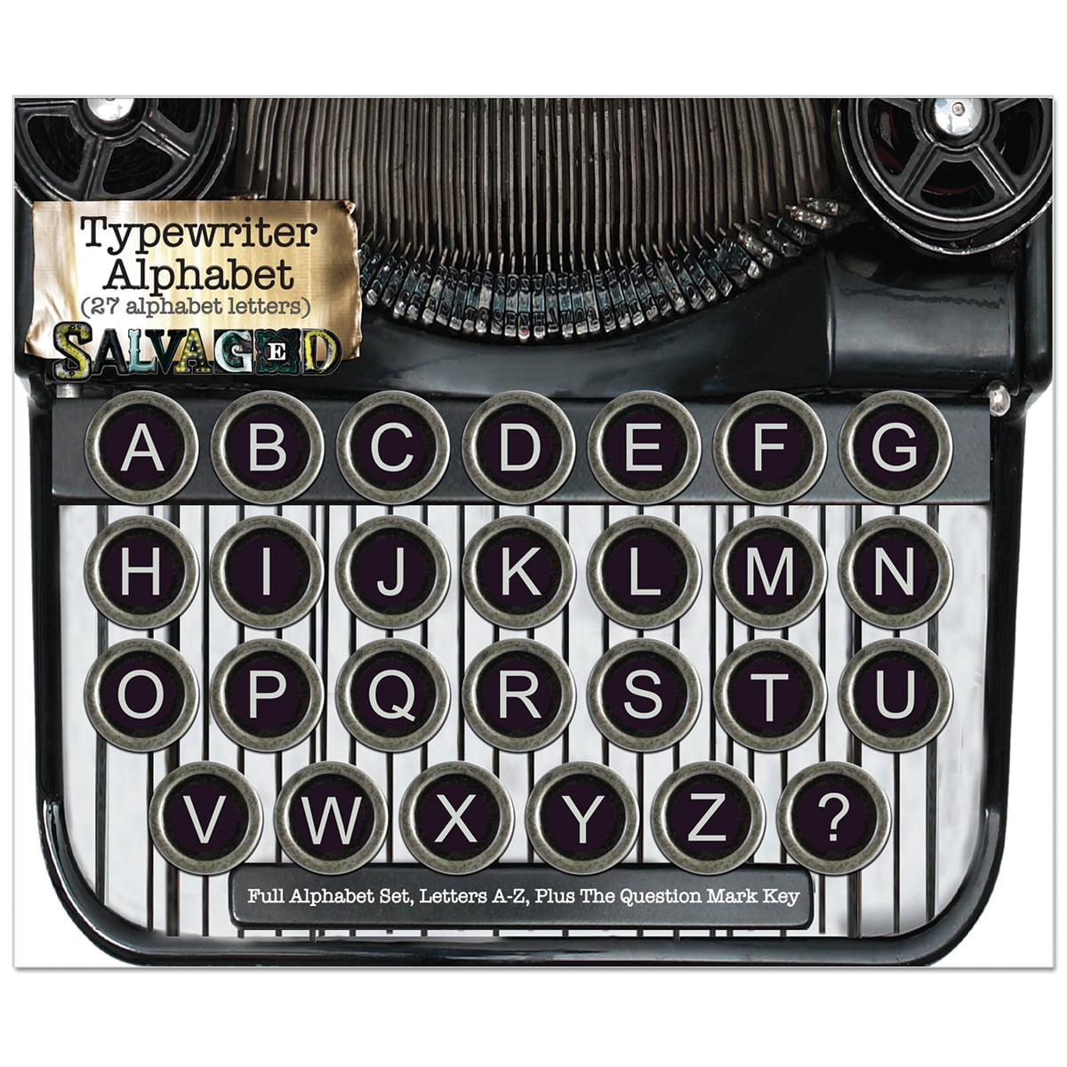 Salvaged Vintage Typewriter Keys-Alphabet - image 1 of 1