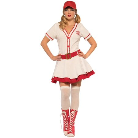 Baseball Sweetie Womens Costume A League Of Their Own Movie Dress Dottie Peaches - Peach Halloween