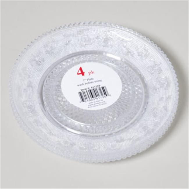 DDI 1909726 Plate 7 inch Clear Crystal-Look