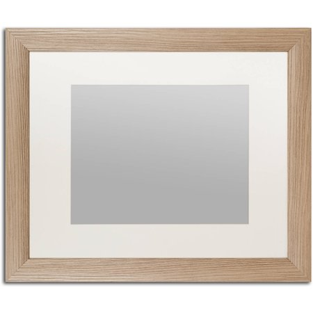 trademark fine art heavy duty 16x20 birch wood picture frame with 11x14 white mat. Black Bedroom Furniture Sets. Home Design Ideas