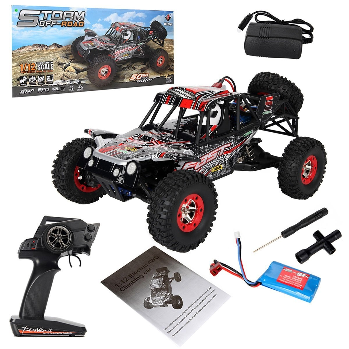 New MTN-G 1:12 2.4G 4WD High Speed Off-road RC Climbing C...