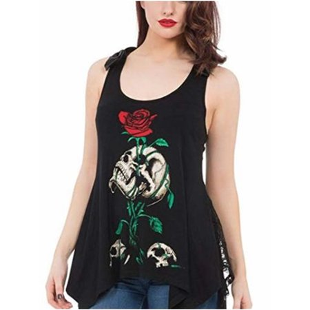 buy online buy popular low price sale SySea - Plus Size Skull Print Tank Tops Punk Casual Shirts ...