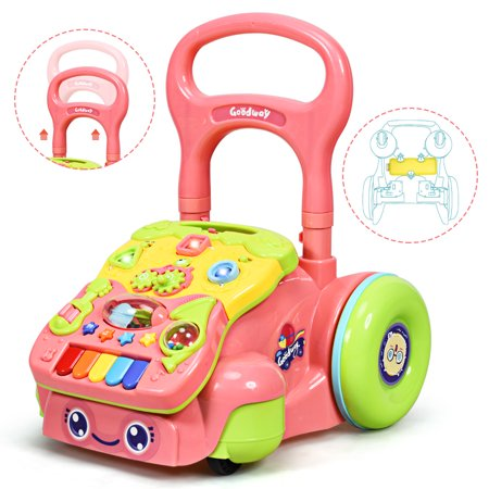 Costway Baby Sit To Stand Learning Walker Toddler Activity