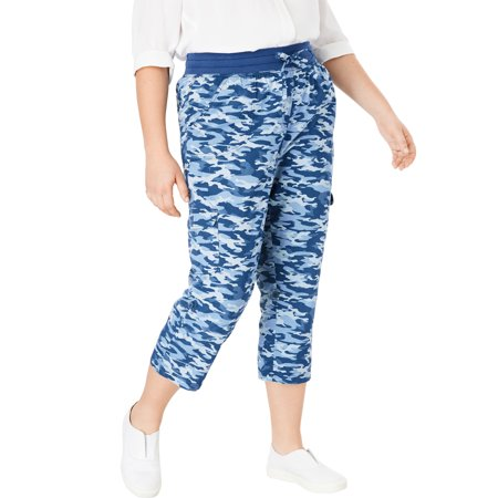 Woman Within Plus Size Convertible Length Cargo Capri Pant ()