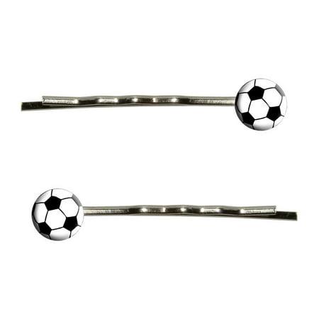 Soccer Ball Bobby Pin Hair - Balls With Hair