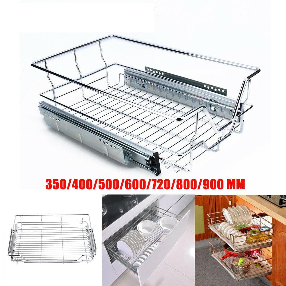 Rdeghly Wire Basket Sliding Kitchen Rack Cabinet Storage ...