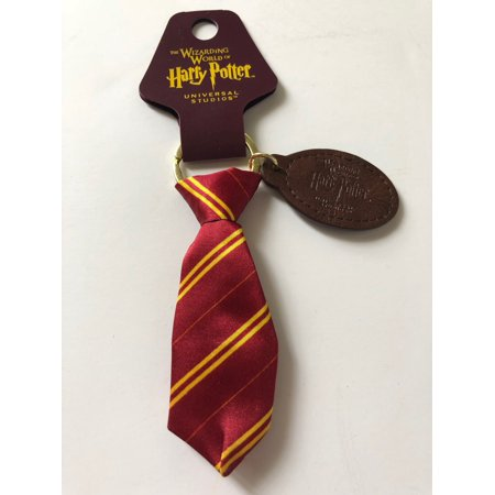 Universal Studios Harry Potter Gryffindor Fabric Tie Keychain New with Tags