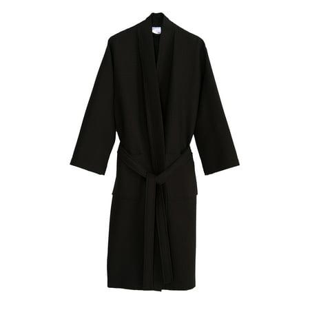 TowelSelections Turkish Cotton Waffle Bathrobe Kimono Waffle Robe - Princess Leia White Robe