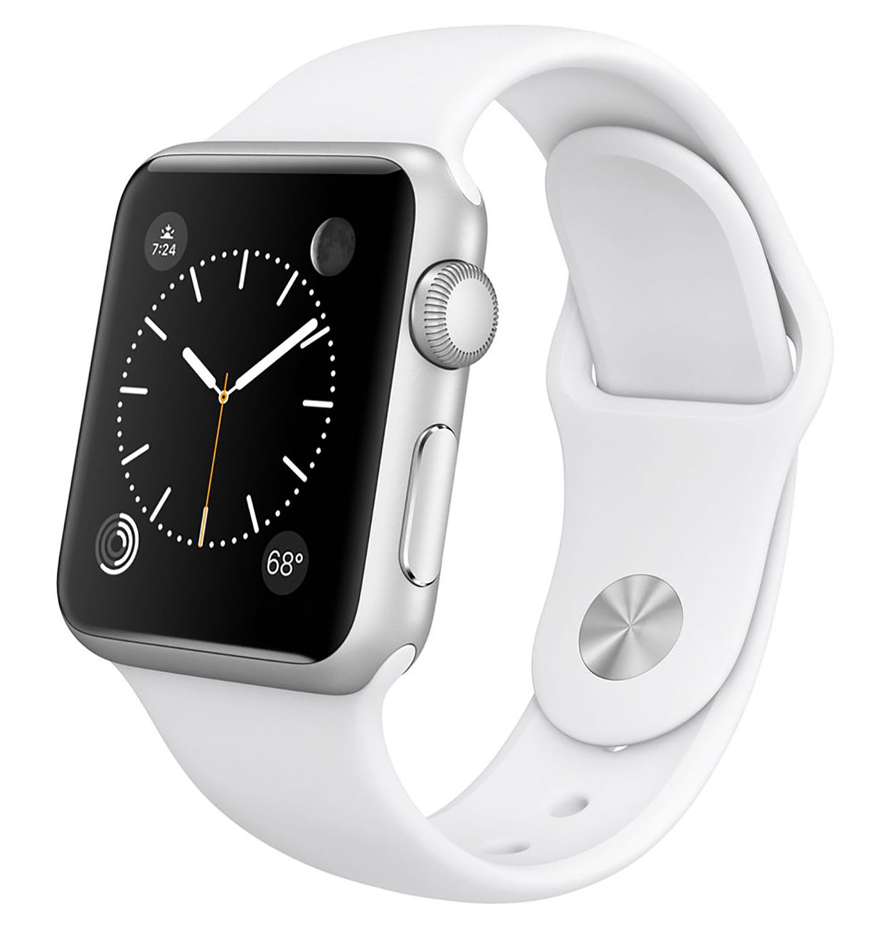 new style f5c68 f54c2 Apple Watch 38mm Silver Aluminum Case with White Sport Band (Certified  Refurbished)