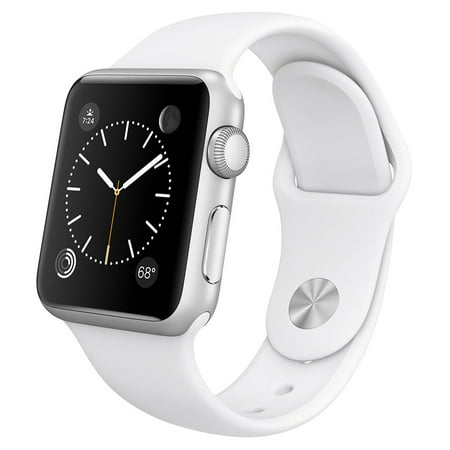 Apple Watch 38mm Silver Aluminum Case with White Sport Band (Certified (Best Smartwatch For Apple)