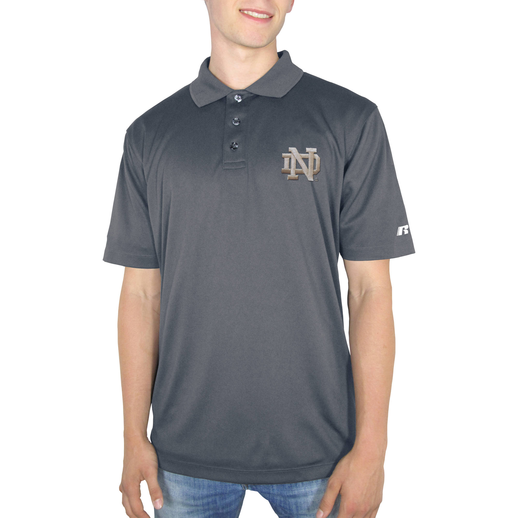 Russell NCAA Notre Dame Fighting Irish Men's Synthetic Polo