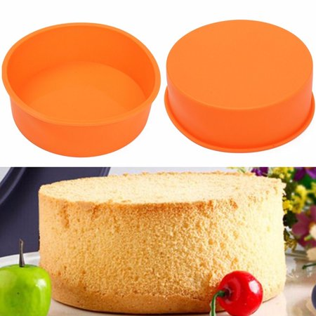 Meigar 7Inches Christmas Round Silicone Cake Mold Pan Muffin Pizza Pastry Baking Tray Mould Today's Special Offer!