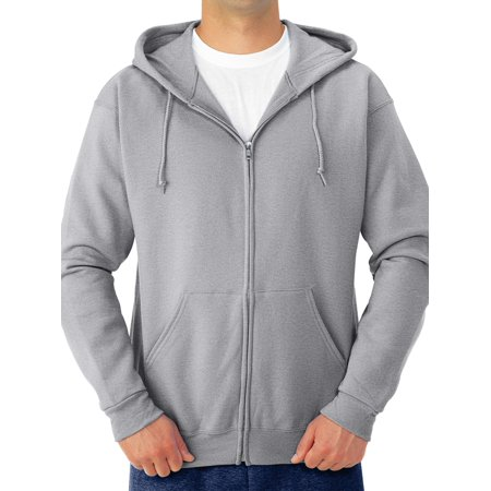 Men's Soft Medium-Weight Fleece Full Zip Hooded Jacket