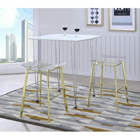 Fantastic Acrylic Artina Gold Chrome Barstools Set Of 2 Inzonedesignstudio Interior Chair Design Inzonedesignstudiocom