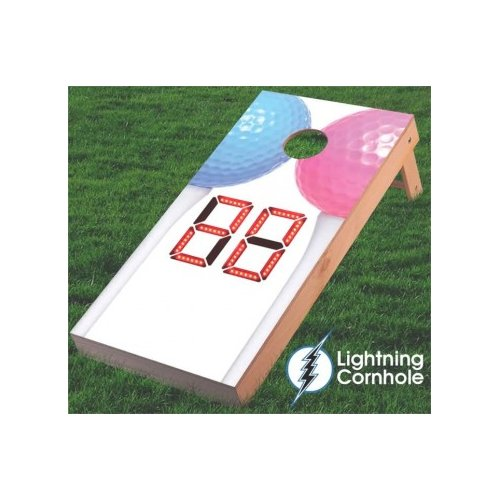 Lightning Cornhole Electronic Scoring Couples Golf Cornhole Board by