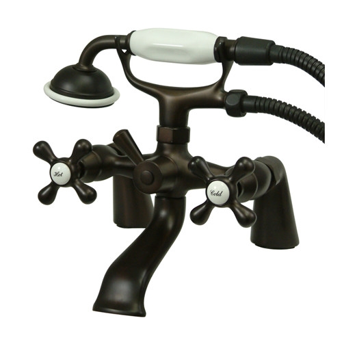 Kingston Brass Kingston Deck Mounted Clawfooted Tub Faucet with Hand Shower