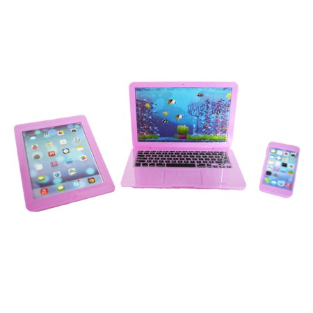 My Brittany's Lavender Laptop, Smart Phone and Tablet for American Girl Dolls and My Life as Dolls- 18 Inch Doll Accessories- DOLL SIZE TOY ()