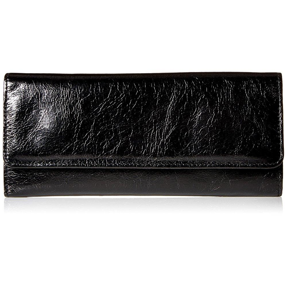 hobo vintage sadie continental wallet,black,one size