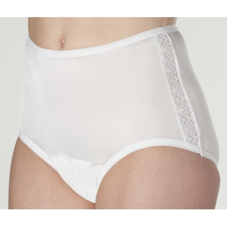 8ccd26fdf086 3-Pack Wearever Women's Nylon and Lace Incontinence Panties Washable  Reusable Bladder Control Briefs - Pack of 3 - Walmart.com