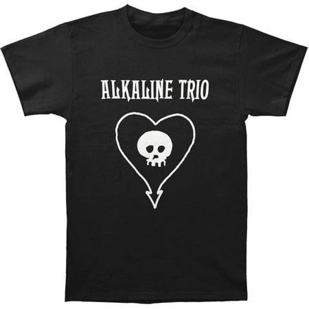 ALKALINE TRIO Classic Heart Skull Logo Punk Rock T-Shirt