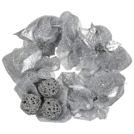Wal-Mart Stores, Inc. Holiday Time Silver 20-Inch Mesh Wreath