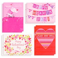 Hallmark Valentine's Day Cards Assortment, Happy Hearts (8 Cards with Envelopes)