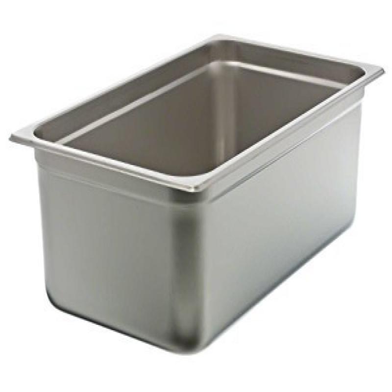 Update International NJP-1006 24-Gauge Stainless Steel Anti-Jam Steam Table Pan, Full, 22-Quart , Set of 12