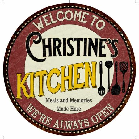 Christine S Kitchen 12 Round Metal Sign Bar Game Room Wall Deco 200120040045