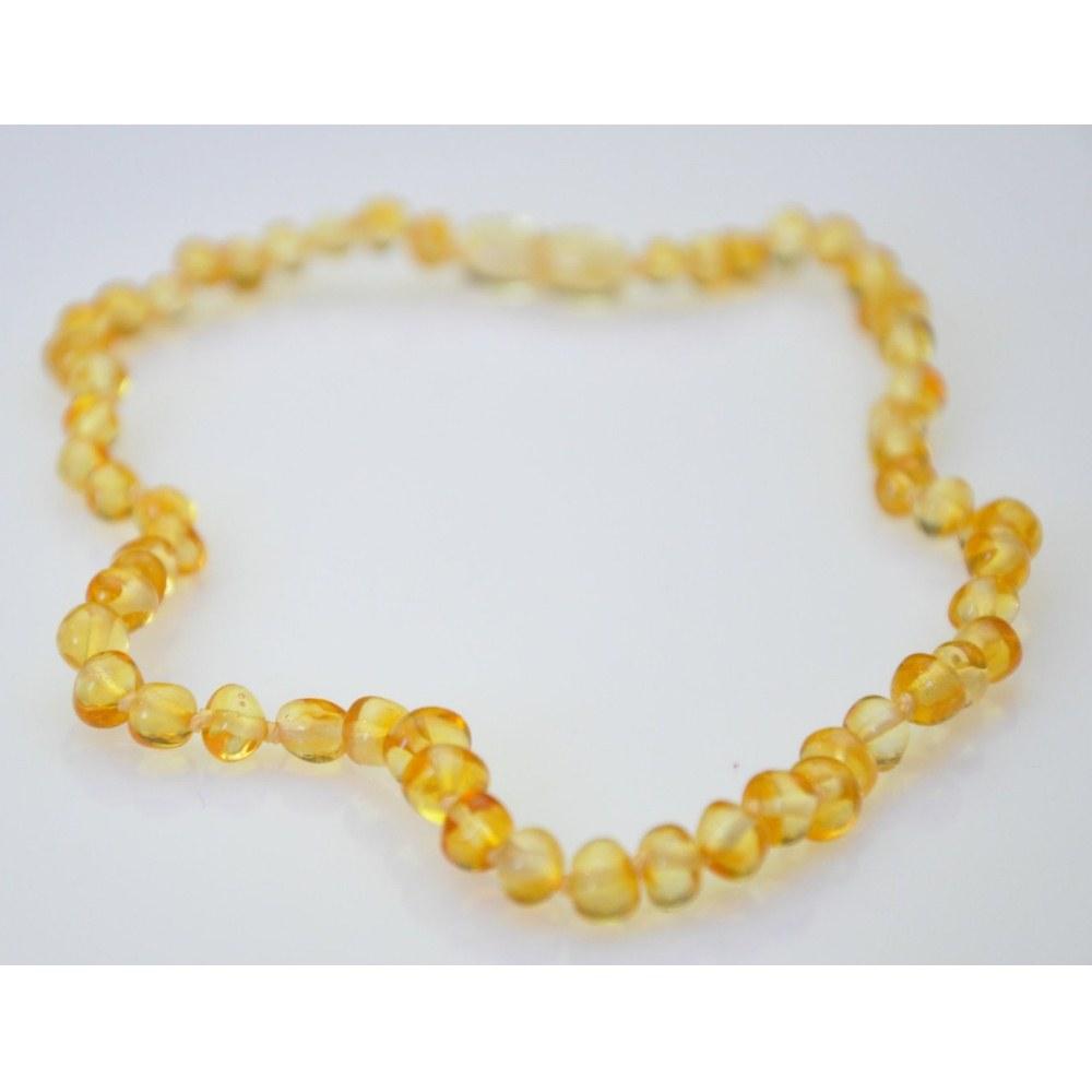 baby baltic teething necklace baroque lemon
