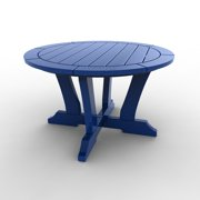 Round Conversation Table by Malibu Outdoor - Laguna, Blue - 30''