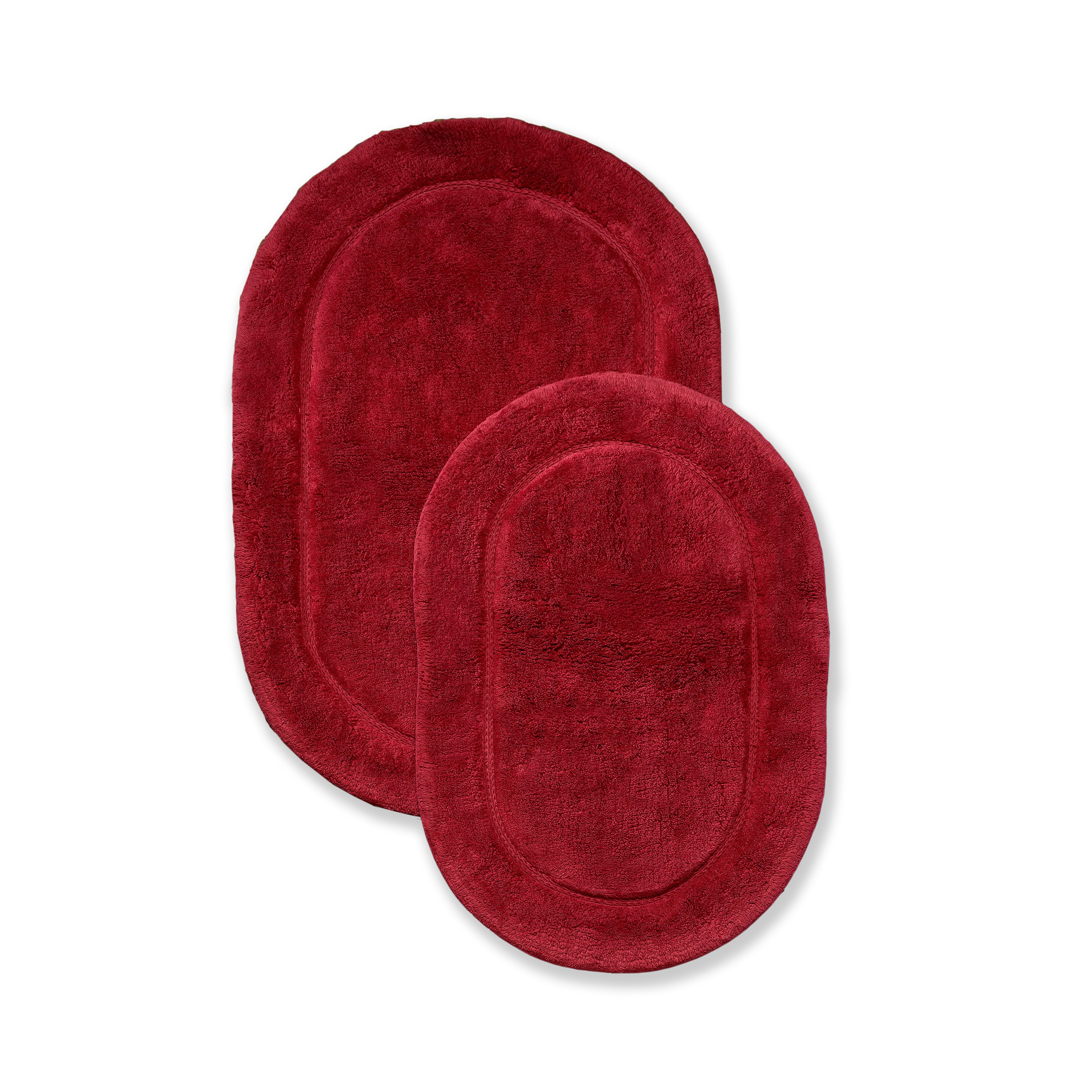 Impressions Cotton Non-Skid 2pc Oval Bath Rug Set