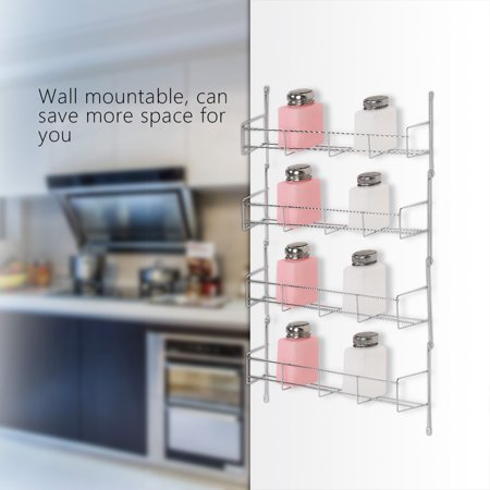 Spice Rack Organizer Hilitand Wall Mount Spice Storage Organizer Pantry Kitchen Standing Rack Shelf Holder(4/5/6 (Standing Kitten)