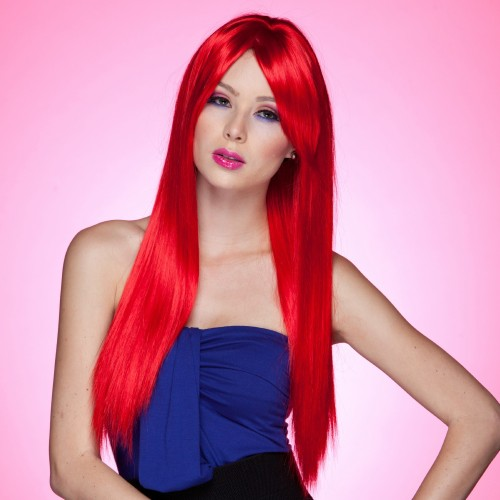Blush Divine Fantasy Style Synthetic Wig - Firecracker Red