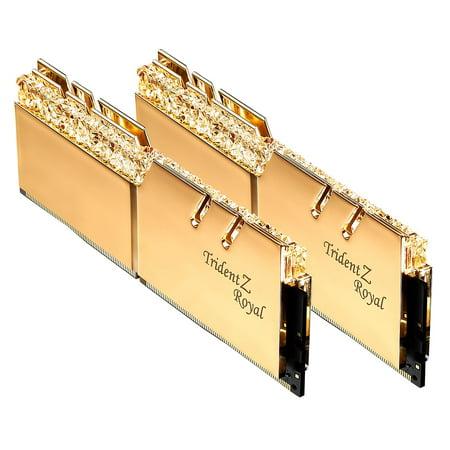 16GB G.Skill DDR4 Trident Z Royal Gold 3200Mhz PC4-25600 CL16 1.35V Dual Channel Kit