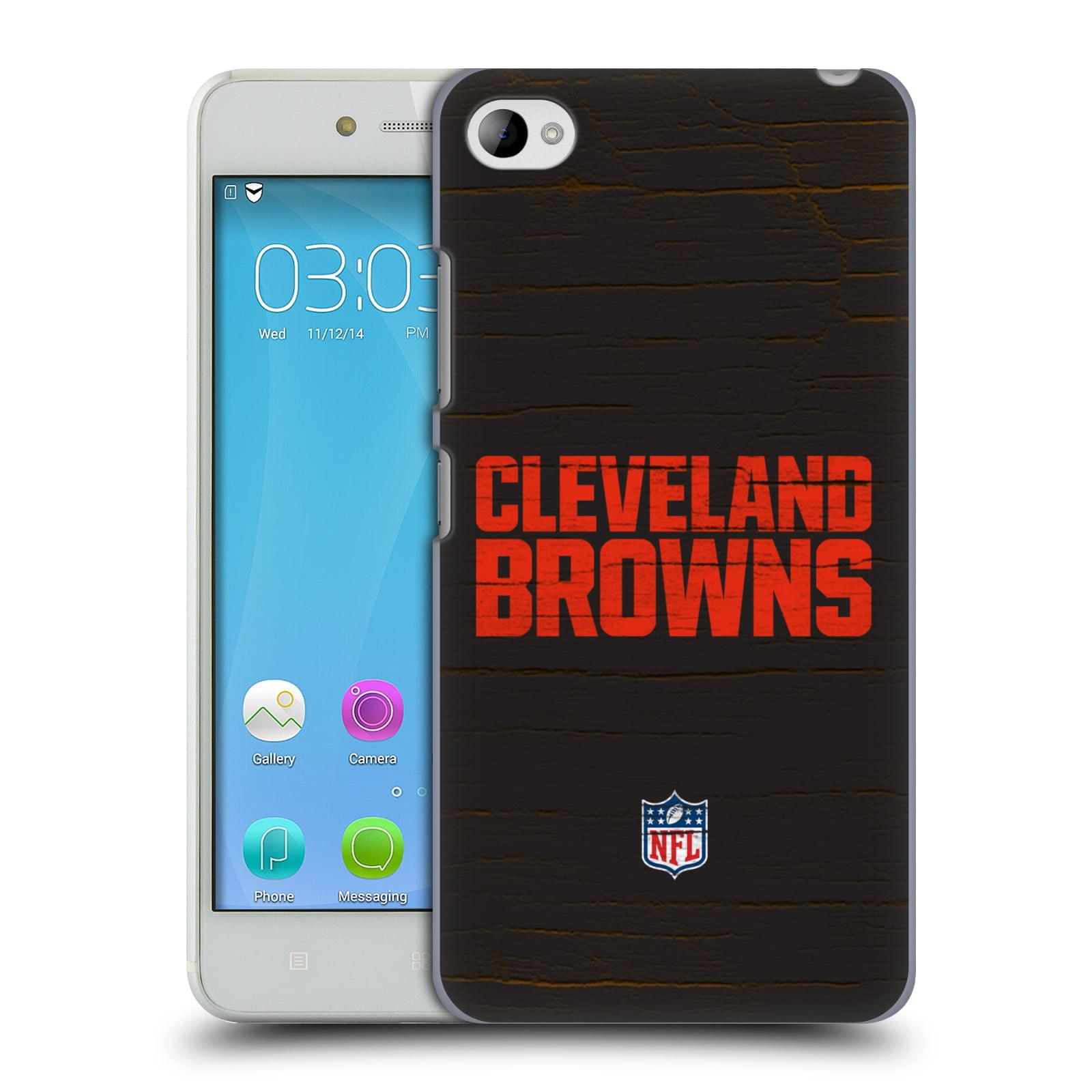 OFFICIAL NFL CLEVELAND BROWNS LOGO HARD BACK CASE FOR LENOVO PHONES