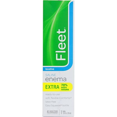 Enema, Ready-to-Use Saline Laxative, 7.8 fl