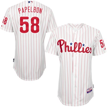 58844b6df Jonathan Papelbon Philadelphia Phillies Majestic Home 6300 Player Authentic  Jersey - White - Walmart.com