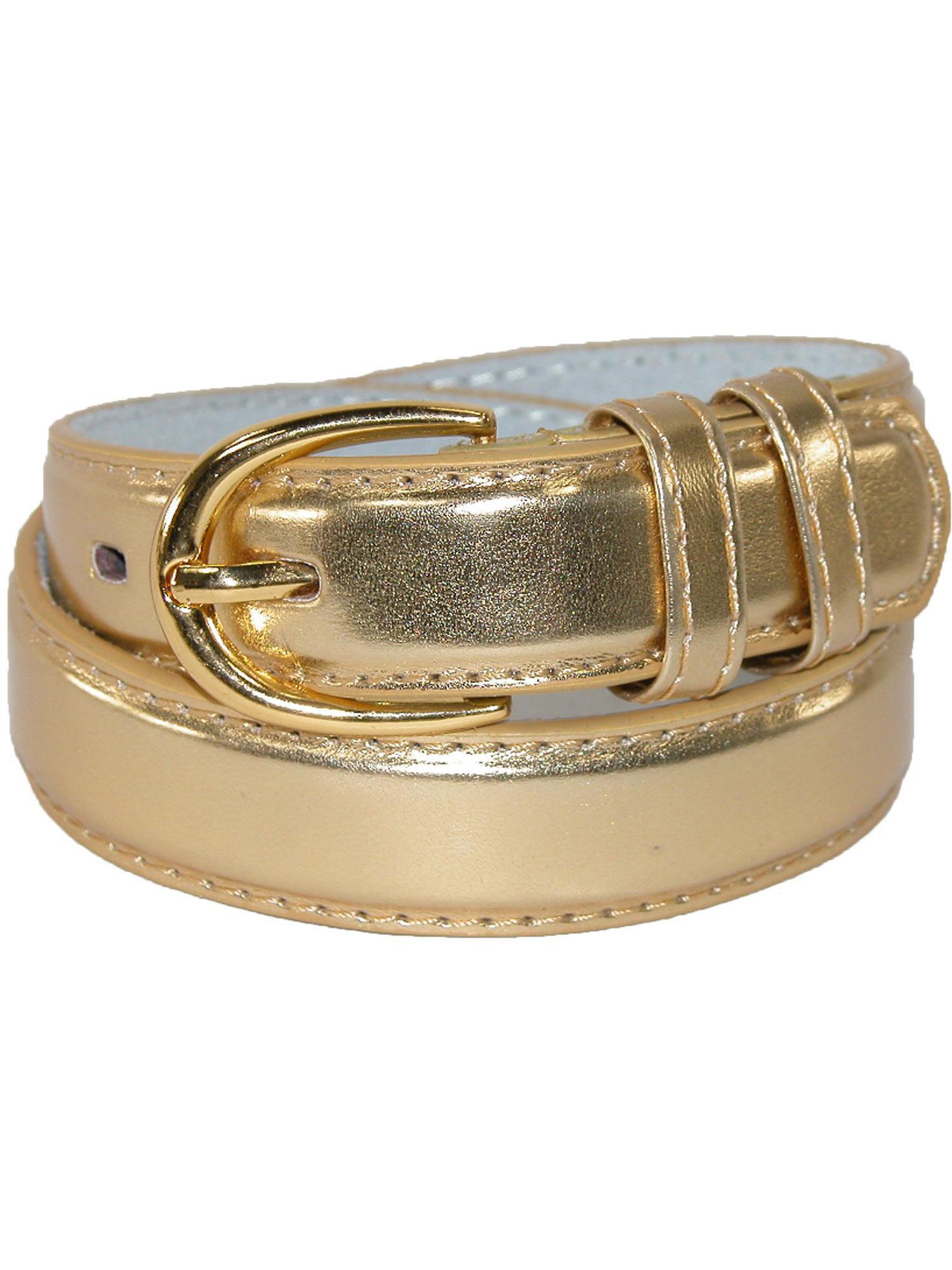 Kid's Leather 1 inch Basic Dress Belt (Pack of 2)