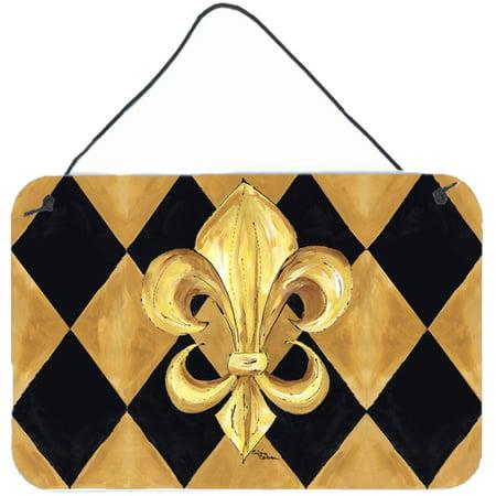 Black and Gold Fleur de lis New Orleans Indoor or Wall or Door Hanging Prints ()