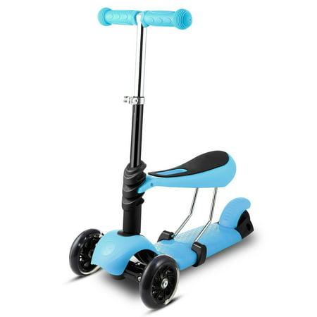 3-in-1 3-Wheel Scooter LED Wheels Kids Kick